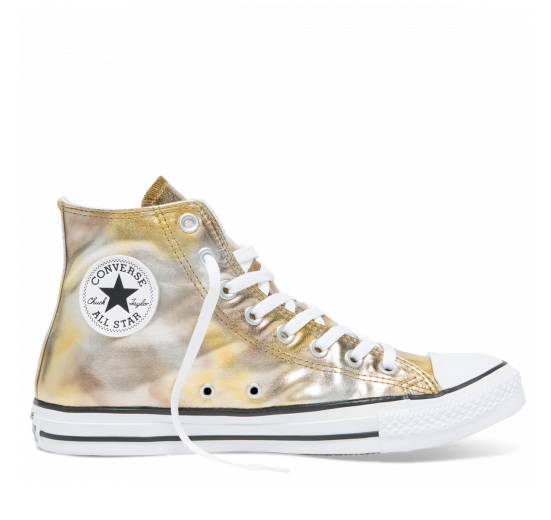 לצפייה במוצר CTAS WASHED METALLIC CANVAS HI - GOLD