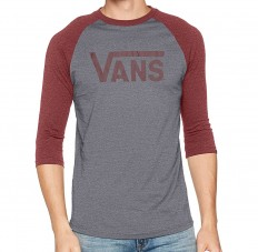 לצפייה במוצר VANS RAGLAN - GREY BURGUNDY