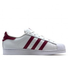 לצפייה במוצר SUPERSTAR - WHITE/BURGUNDY