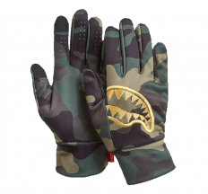 לצפייה במוצר SPRAYGROUND - GOLD STENCIL CAMO GLOVES