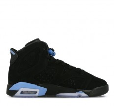 לצפייה במוצר AIR JORDAN 6 RETRO BG - BLACK/ UNIVERSITY BLUE - WOMAN