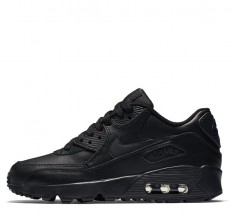 לצפייה במוצר NIKE AIR MAX 90 LEATHER GS - BLACK