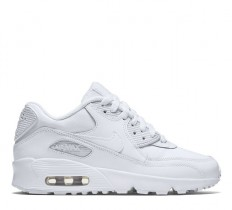 לצפייה במוצר NIKE AIR MAX 90 LEATHER GS - ALL WHITE