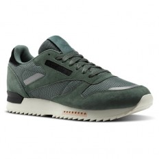 לצפייה במוצר REEBOK - CLUB LTHR RIPPLE CHARCOAL GREEN - MAN
