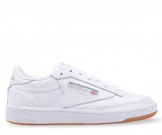 לצפייה במוצר REEBOK - CLUB C85 WHITE/SILVER - WOMAN