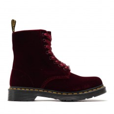 לצפייה במוצר DR MARTENS VELVET CHERRY RED