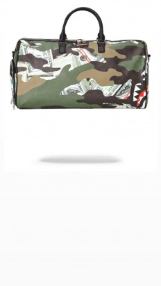 לצפייה במוצר SPRAYGROUND CAMO MONEY SHARK DUFFLE