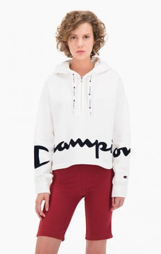 לצפייה במוצר CHAMPION HOODED SWEATSHIRT WHITE