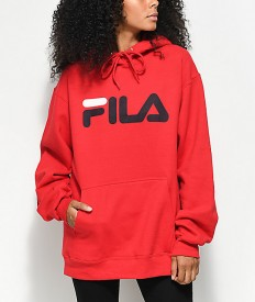 לצפייה במוצר FILA HOODED SWEATSHIRT RED