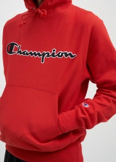 לצפייה במוצר CHAMPION HOODED SWEATSHIRT RED