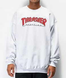 לצפייה במוצר TRASHER OUTLINED CREWNECK HEATHER