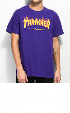 לצפייה במוצר THRASHER flame purple t-shirt