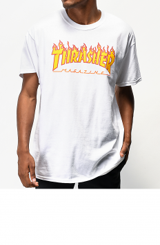 לצפייה במוצר THRASHER flame white t-shirt
