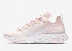 לצפייה במוצר Nike React Element 55 Soft Pink White