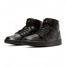 לצפייה במוצר Air Jordan 1 Mid Black Snake skin