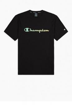 לצפייה במוצר CHAMPION T-SHIRT blk ombre logo